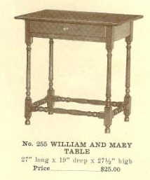 C13085 William and Mary Table