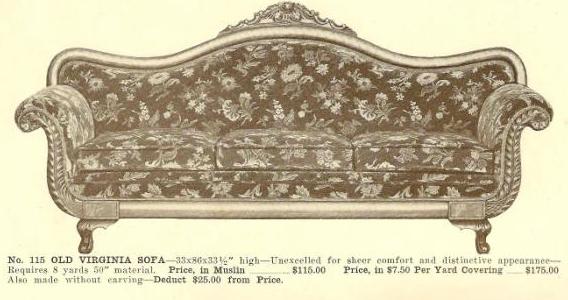 A13050 Old Virginia Sofa ~ No Upholstery