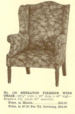 GFS- B13062 Sheraton Fireside Wing Chair ~ No Upho