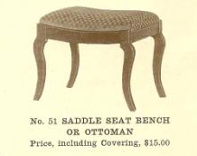 C13125 Saddle Seat Bench or Ottoman