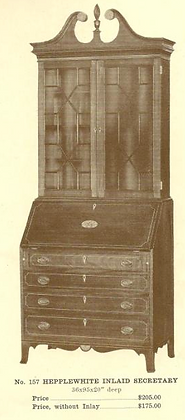 A13102 Hepplewhite Inlaid Secretary