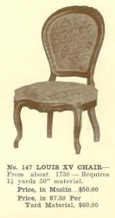 GFS- B13057 Louis XV Chair ~ No Upholstery