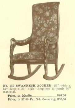 GFS- B13061 Swanneck Rocker ~ No Upholstery
