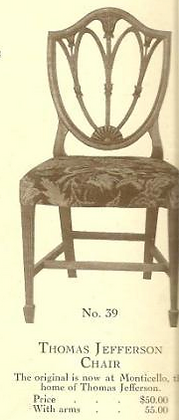 B13195 Thomas Jefferson Chair w-Arms