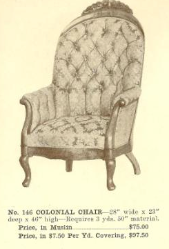 B13058 Colonial Chair ~ No Upholstery