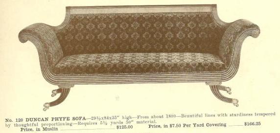 A13052 Duncan Phyfe Sofa ~ No Upholstery