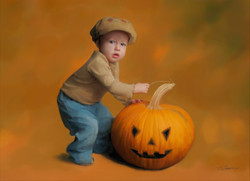 boy and pumpkin2a