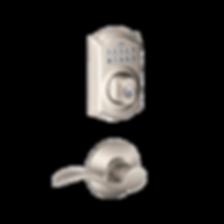 Push button residential lock or deadbolt