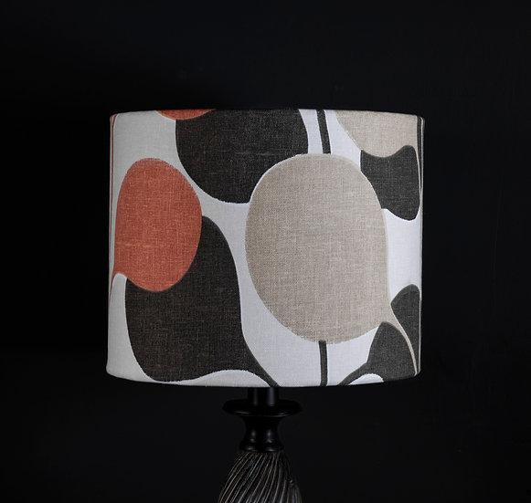 Lampshade, Table Lamp, Pod, Harlequin, Sale, Modern, Botanical, Orange Decor, Plant, Coffee Tones, Small, Drum, Fabric, Bold