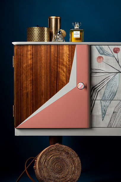 Modern Hand painted sideboard