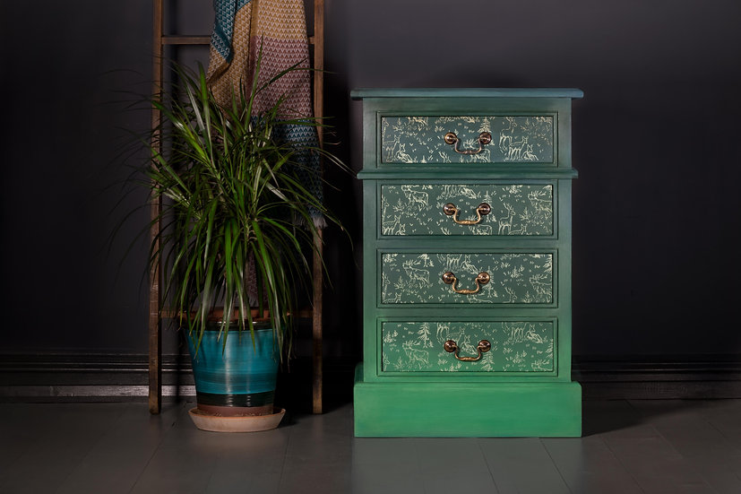 Forest Green Side Table