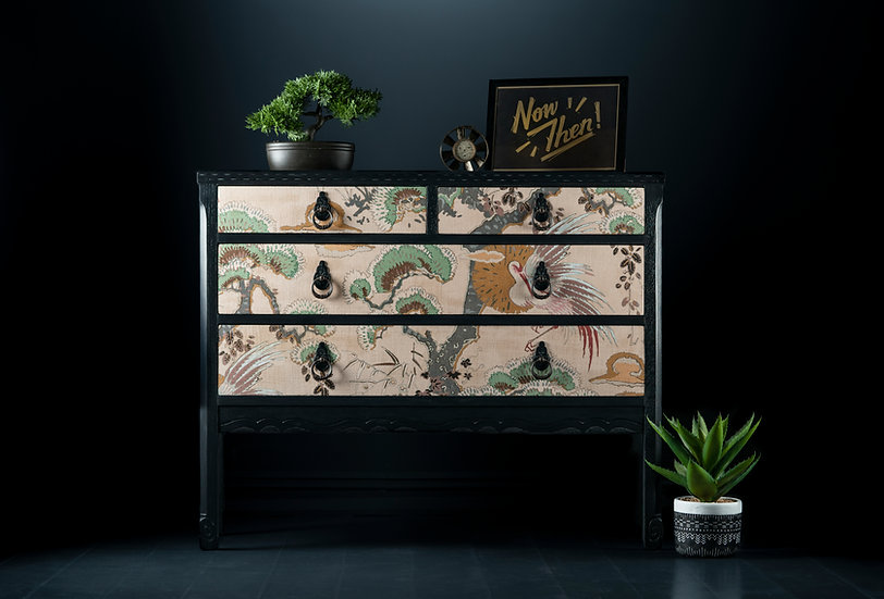 Carved Japanese Garden Chest