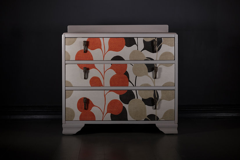 Retro Fabric Chest of Drawers