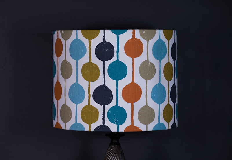 Lampshade, Pendant Shade, Standard Lamp, Taimi, Scion, 40x30, Multi Coloured, Modern, Geometric, Decor, Large, Vibrant