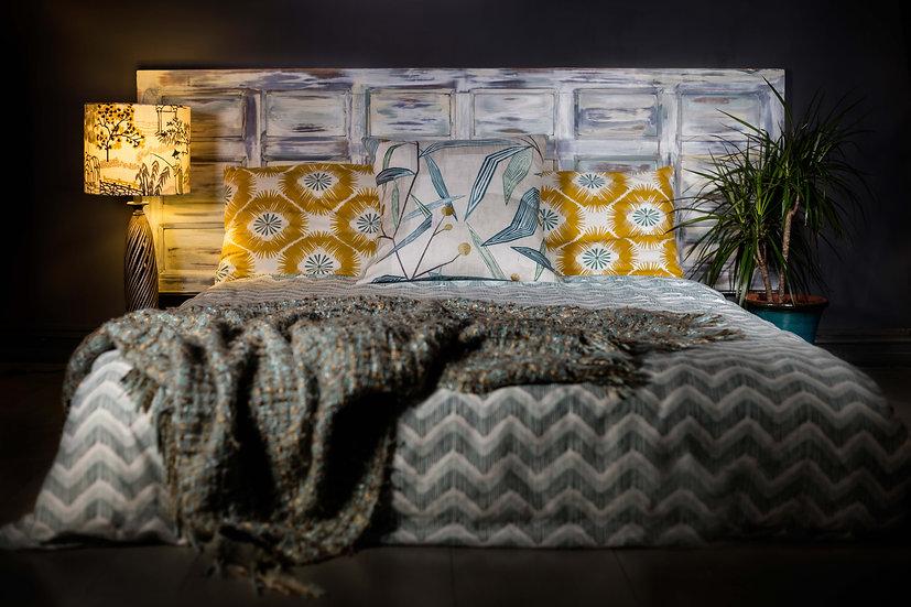 Headboard, Painted Headboard, Upcycled Door in to a Headboard, Upcycled Furniture, Bedroom Decor, Bedroom Furniture, Uk, Bed