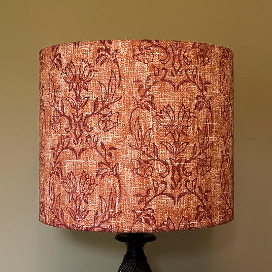 Orange Tapet printed lampshade