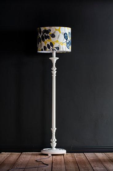 Classic White Lunaria Lamp Stand