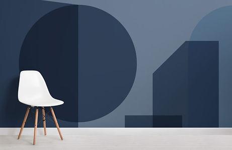 Blue-Geometric-Shapes-Modern-Bauhaus-Wal