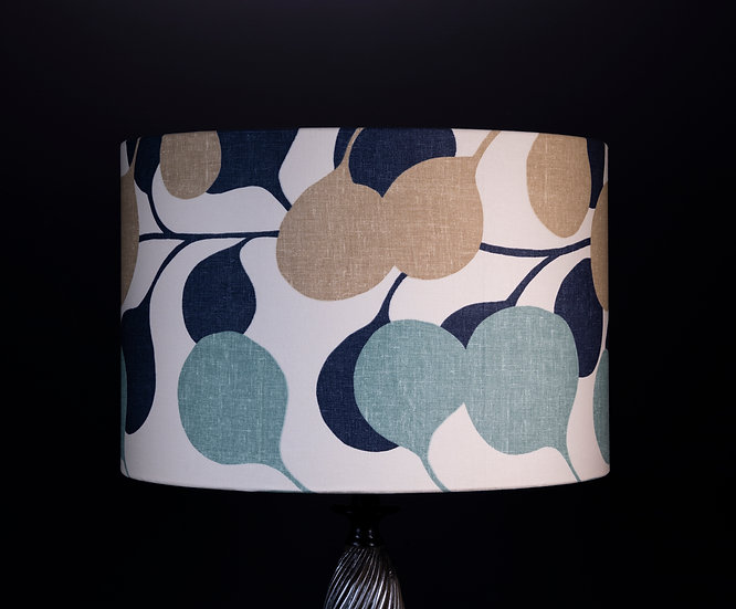 Blue home decor: Handmade in Uk lampshade/pendant shade using Pod by Harlequin a modern bold botanical design size 45x30cm