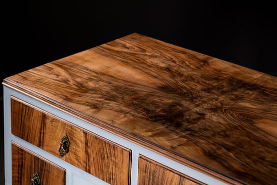 Vintage walnut sidboard upcycled by Patience & Gough
