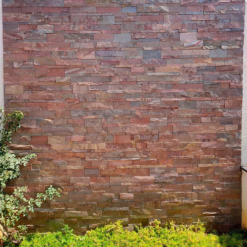 Stone Wall Cladding - Empire Red Stacking