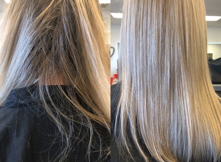 Color Change! Aloxxi Color Smoothed ends (Split End Correction) by Brazilian Blowout