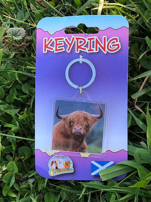 Highland Bull keyring