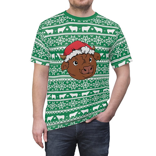 Unisex Christmas Cow T