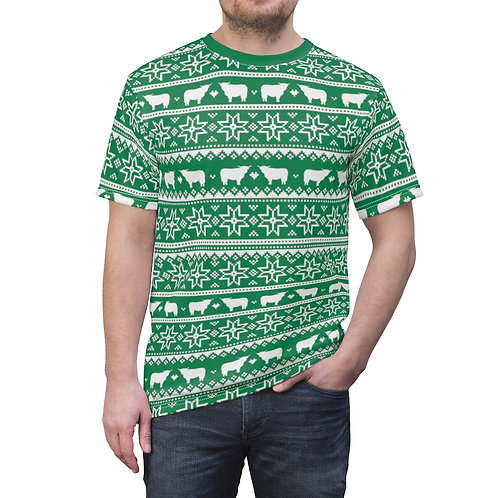 Unisex Christmas Cow T