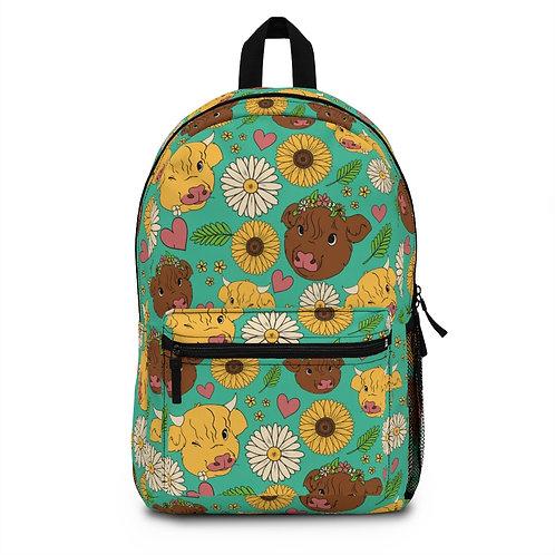 Highland Calf Print Backpack