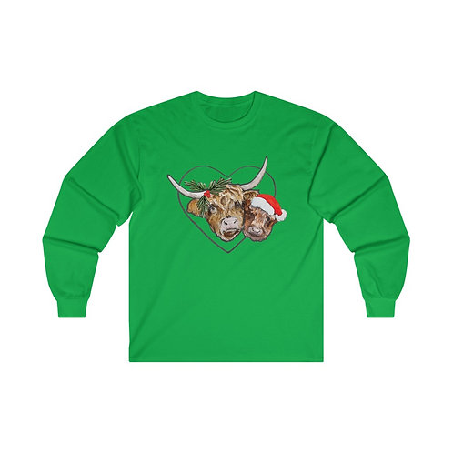 Highland Cow Cotton Long Sleeve Tee