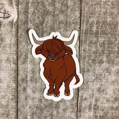 Bull Sticker