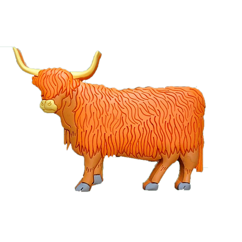 Standing highland cow magnet