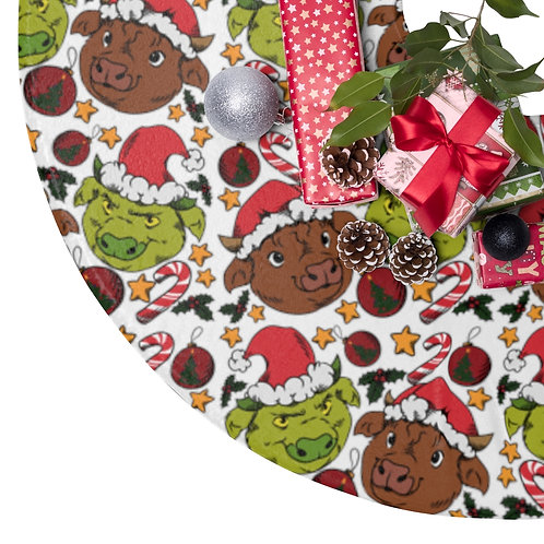 Grinch Cow Tree Skirts