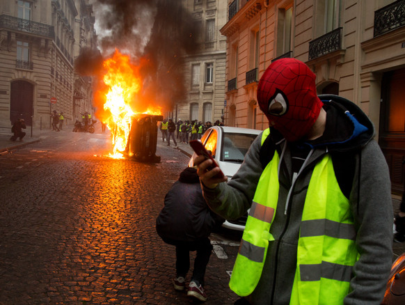 The burning winter in france On 17th Nov