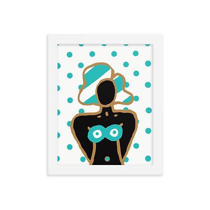 Black girl polka dot 8x10 print