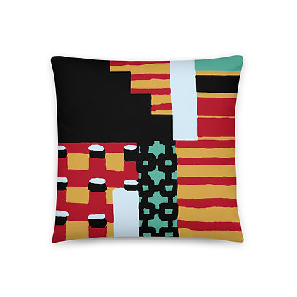 Orange Tribal Pillow