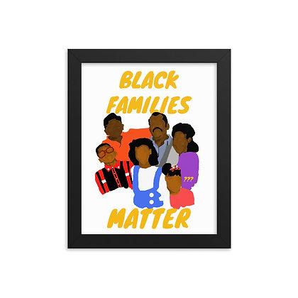 Black families matter 8x10 print