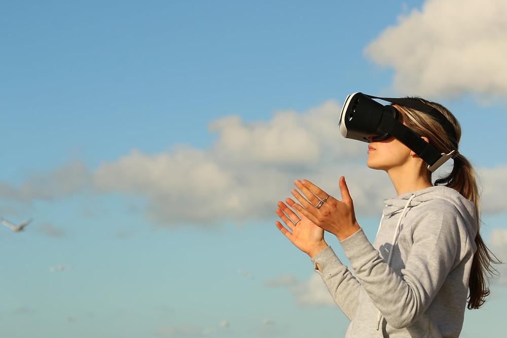 Virtual Reality woman