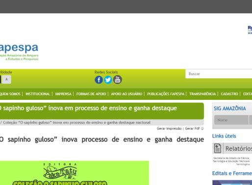 FAPESPA noticia o seu apoio à Coleção O Sapinho Guloso