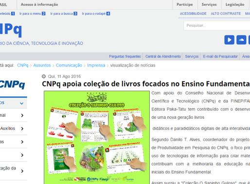 """CNPq noticia o seu apoio à coleção """"O Sapinho Guloso"""""""