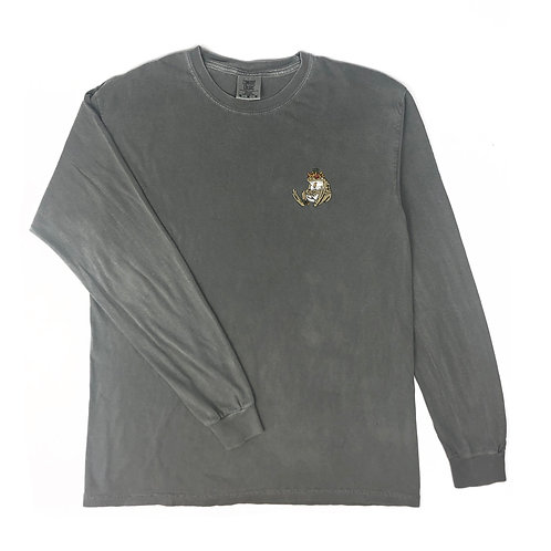 Council of Frogs Embroidered Long Sleeve