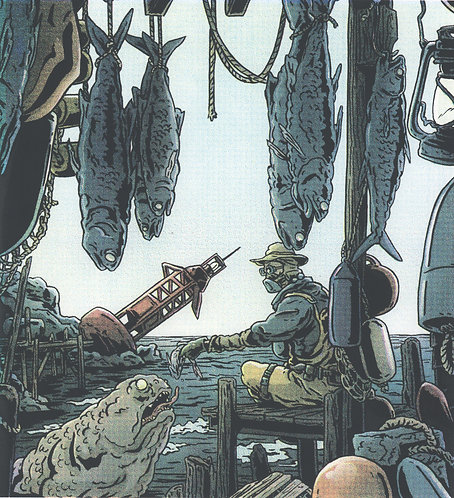 Fisherman's Dock Screen Printed Poster