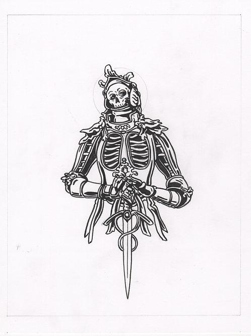 Catacomb Saint Original Ink Drawing