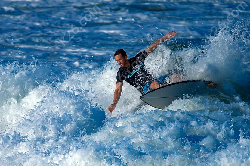 Surfing at the Spit