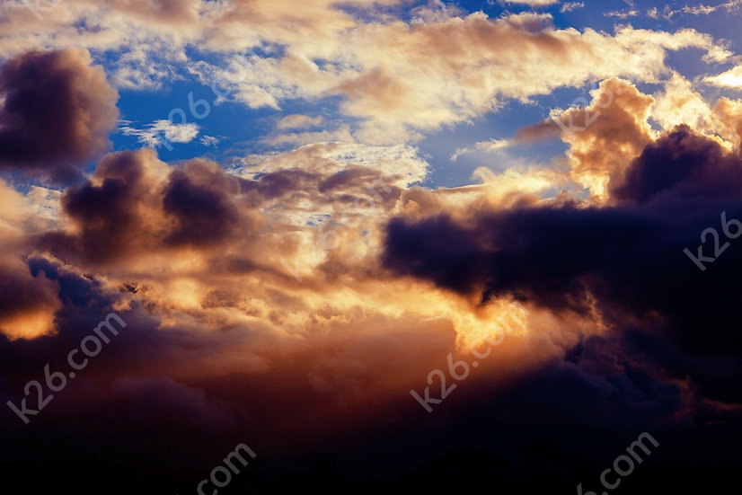 Sunset clouds of the Hinterland