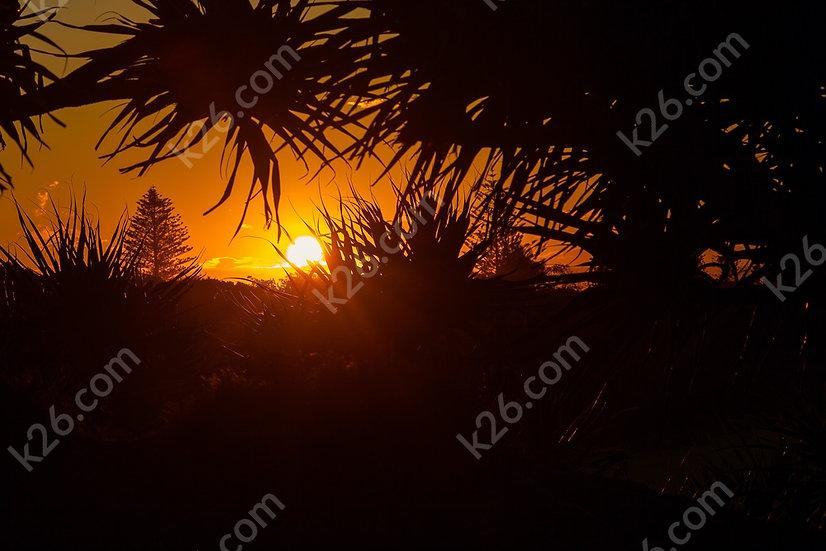 Sunset over Fingal Head