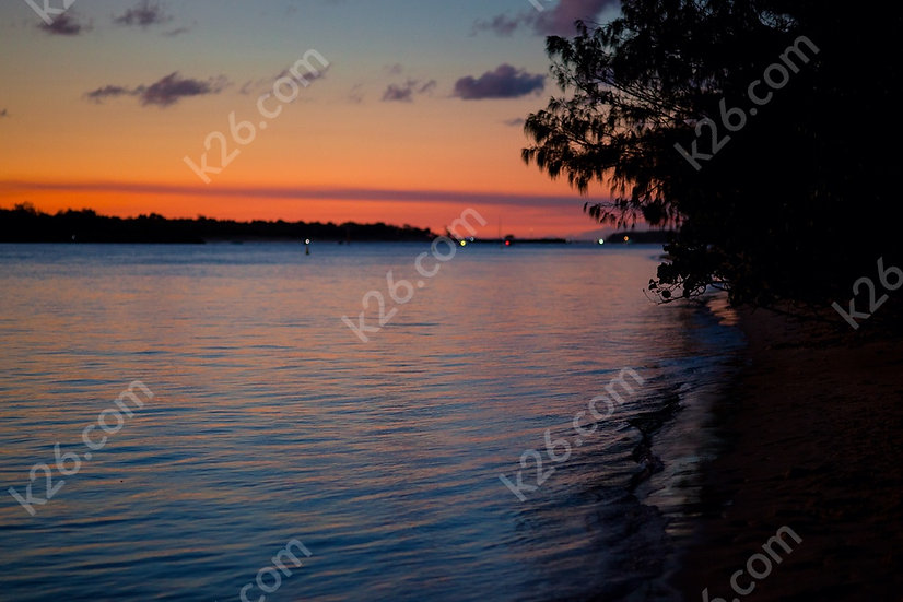 Red sunset over the Broadwater