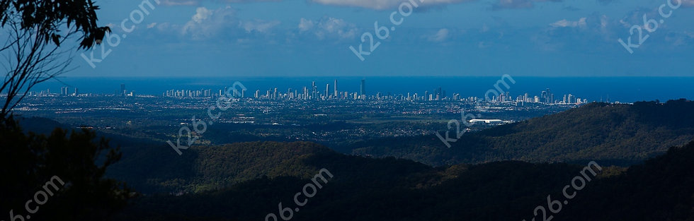 Gold Coast skyline viewed from Springbrook