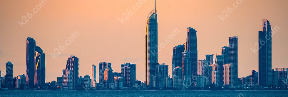 Surfers Paradise from Snapper Rocks